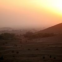 Africa, Kenya, Amboseli. Amboseli Sunset.