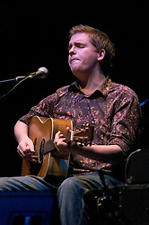 John Smith performing live at The Barbican, London, Great Britain 11th September 2006. <br /> <br /> He was supporting John Martyn who performed the whole of Solid Air in the Don't Look Back Series of concerts at the Barbican Centre his 58th birthday,<br /> <br /> John Smith is an English folk guitarist and singer from Devon. He has toured Britain, Europe and America extensively, both solo and with artists such as Iron and Wine, James Yorkston, John Martyn, David Gray, Jools Holland, Gil Scott-Heron and Lisa Hannigan.<br /> <br /> Photograph by Elliott Franks