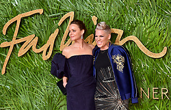 Stella McCartney and Pink attending the Fashion Awards 2017, in partnership with Swarovski, held at the Royal Albert Hall, London. Picture Date: Monday 4th December, 2017. Photo credit should read: Matt Crossick/PA Wire