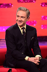 Martin Freeman appearing on the Graham Norton Show filmed at the London Studios. London, which will be transmitted on BBC One on December 23.