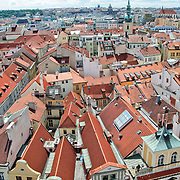Elevated view of Prague's Old Town