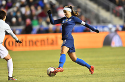 February 27, 2019 - Chester, PA, U.S. - CHESTER, PA - FEBRUARY 27: US Forward Alex Morgan (13) carries the ball in the box in the second half during the She Believes Cup game between Japan and the United States on February 27, 2019 at Talen Energy Stadium in Chester, PA. (Photo by Kyle Ross/Icon Sportswire) (Credit Image: © Kyle Ross/Icon SMI via ZUMA Press)