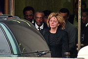 Marcia Lewis, mother of White House intern Monica Lewinsky leaves federal court February 11, 1998 in Washington, DC. Lewis was testifying before a grand jury questioning an alleged presidential affair and cover-up.