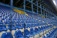 PODGORICA, MONTENEGRO - JUNE 07: Empty stadium during 2020 UEFA European Championships group A qualifying match between Montenegro and Kosovo at Podgorica City Stadium on June 7, 2019 in Podgorica, Montenegro MB Media