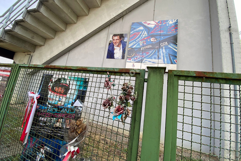 Roland Ratzenberger grandstand during practice for the 2021 Emilia Romagna Grand Prix in Imola.. Photo: Grand Prix Photo