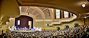 SHOT 5/10/15 2:02:51 PM - Naropa University Spring 2015 Commencement ceremonies at Macky Auditorium in Boulder, Co. Sunday. Parker J. Palmer, a world-renowned author and activist known for his work in education and social change, delivered the commencement speech to more than 300 graduate and undergraduate students along with Naropa faculty and graduate's family members. Naropa University is a private liberal arts college in Boulder, Colorado founded in 1974 by Tibetan Buddhist teacher and Oxford University scholar Chögyam Trungpa. (Photo by Marc Piscotty / © 2014)