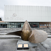 The front entrance of the newly constructed Istanbly Naval Museum. On display in front of the Istanbul Navy Museum buiildings is one of the four large propellers of the Battle Cruiser TCG Yavuz, a Turkish First-Class Battle Cruiser that served in the Turkish Navy from 1912 to 1950. The Istanbul Navy Museum dates back over a century but is now housed in a new purpose-built building on the banks of the Bosphorus. While ostensibly relating to Turkish naval history, the core of its collection consists of 14 imperial caiques, mostly from the 19th century, that are displayed on the main two floors of the museum.