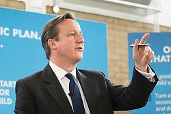 © Licensed to London News Pictures. 02/02/2015. Enfield, UK UK. British Prime Minister David Cameron gives a speech at Kingsmead School Academy in Enfield North London today 2nd February 2015.  Photo credit : Stephen Simpson/LNP