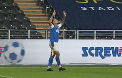 Jonson Clarke-Harris of Peterborough United celebrates scoring the equalising goal - Mandatory by-line: Joe Dent/JMP - 24/10/2020 - FOOTBALL - KCOM Stadium - Hull, England - Hull City v Peterborough United - Sky Bet Championship