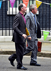 © Licensed to London News Pictures. 11/09/2012. Westminster, UK The Bishop of Liverpool James Jones (L) on Downing Street today 11, September 2012. Photo credit : Stephen Simpson/LNP