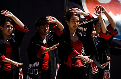 May 28, 2017 - Toyokawa, Aichi, Japan - Dancers perform at the Yosakoi-in-Oiden festival in Toyokawa, Japan. Yosakoi incorporates traditional Japanese dance set to pop music. (Credit Image: © Ben Weller via ZUMA Wire)