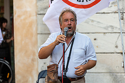 ALESSANDRO GULINATI<br /> MANIFESTAZIONE NO VAX ANTI VACCINO COVID FERRARA