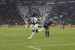 March 8, 2019 - Turin, Piedmont, Italy - Moise Kean (Juventus FC) celebrates after scoring during the Serie A football match between Juventus FC and Udinese Calcio at Allianz Stadium on March 08, 2019 in Turin, Italy..Juventus won 4-1 over Udinese. (Credit Image: © Massimiliano Ferraro/NurPhoto via ZUMA Press)