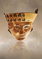 An Etruscan Dinos ( style of vase) with a face, from the Group of Dinoi Campana Ribbon Painter,  540-520 B.C. inv 3784, National Archaeological Museum Florence, Italy .<br /> <br /> If you prefer to buy from our ALAMY PHOTO LIBRARY  Collection visit : https://www.alamy.com/portfolio/paul-williams-funkystock - Scroll down and type - Etruscan Florence - into LOWER search box. (TIP - Refine search by adding a background colour as well).<br /> <br /> Visit our ETRUSCAN PHOTO COLLECTIONS for more photos to download or buy as wall art prints https://funkystock.photoshelter.com/gallery-collection/Pictures-Images-of-Etruscan-Historic-Sites-Art-Artefacts-Antiquities/C0000GgxRXWVMLyc