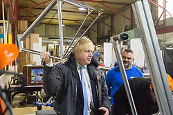 Building BloQs, Edmonton, London, January 21st 2016. XXX as Mayor of London Boris Johnson MP announces 24 recipients of his new £20m London Regeneration Fund during a visit to Building BloQs in Edmonton. ///FOR LICENCING CONTACT: paul@pauldaveycreative.co.uk TEL:+44 (0) 7966 016 296 or +44 (0) 20 8969 6875. ©2015 Paul R Davey. All rights reserved.
