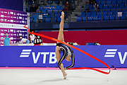 Averina Arina during the Pesaro World Cup final on May 30, 2021. Arina is a Russian gymnast born in Zavolž'e on August 13, 1998.
