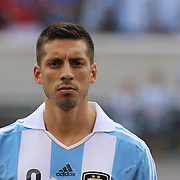 Jose Sosa, Argentina, during the Brazil V Argentina International Football Friendly match at MetLife Stadium, East Rutherford, New Jersey, USA. 9th June 2012. Photo Tim Clayton