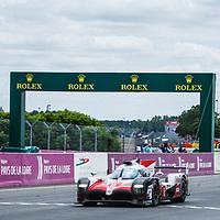#8,  Toyota Gazoo Racing, Toyota TS050 Hybrid,LMP1H, driven by: Sebastien Buemi, , Kazuki Nakajima, Fernando Alonso  on 17/06/2018 at the 24H of Le Mans, 2018