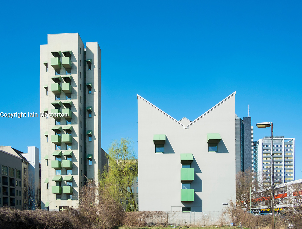 John Hejduk's Kreuzberg Tower and Wings apartment buildings in Berlin , germany