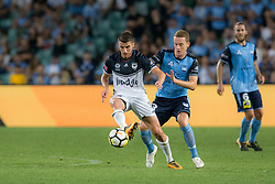 April 13, 2018 - Sydney, NSW, U.S. - SYDNEY, NSW - APRIL 13: Melbourne Victory midfielder Terry Antonis (24) controls the ball outside of the foot at the A-League Soccer Match between Sydney FC and Melbourne Victory on April 13, 2018 at Allianz Stadium in Sydney, Australia. (Photo by Speed Media/Icon Sportswire) (Credit Image: © Speed Media/Icon SMI via ZUMA Press)