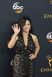 September 18, 2016 - Los Angeles, California, U.S. - JULIA LOUIS-DREYFUS arrives for the 68th Annual Primetime Emmy Awards, held at the Nokia Theatre. (Credit Image: © Kevin Sullivan via ZUMA Wire)
