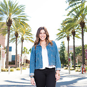 Editorial photoshoot with Janelle Hauber at Chapman University for the Summer 2017 issue of Live Well Magazine on March 24th, 2017.  ©Moontide Media.  Photography by Michael Der.  <br /> <br /> Moontide Media is the copyright owner of these images, therefore only personal use purchases and prints can be made directly through Michael Der Photography.  For any licensing inquiries that involve editorial, promotional, or commercial use, please contact www.moontidemedia.com or call 310-376-7800.