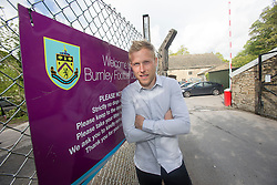 Burnley and Ex-Falkirk player Scott Arfield at Burnley's training ground. Falkirk FC training for the Cup Final at Burnley's training ground.
