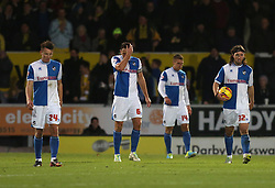 Bristol Rovers players walk back to the centre after going 1-0 down- Photo mandatory by-line: Matt Bunn/JMP - Tel: Mobile: 07966 386802 23/11/2013 - SPORT - Football - Burton - Pirelli Stadium - Burton Albion v Bristol Rovers - Sky Bet League Two
