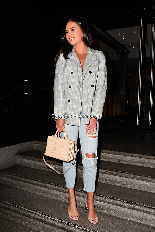 Shelby Tribble attend TMA Talent Management Group host launch party for their new dating app, The List at 100 Wardour Street  on 3rd April 2019, London, UK.