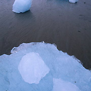 Chunks of ice from glacier. Southeast Alaska.