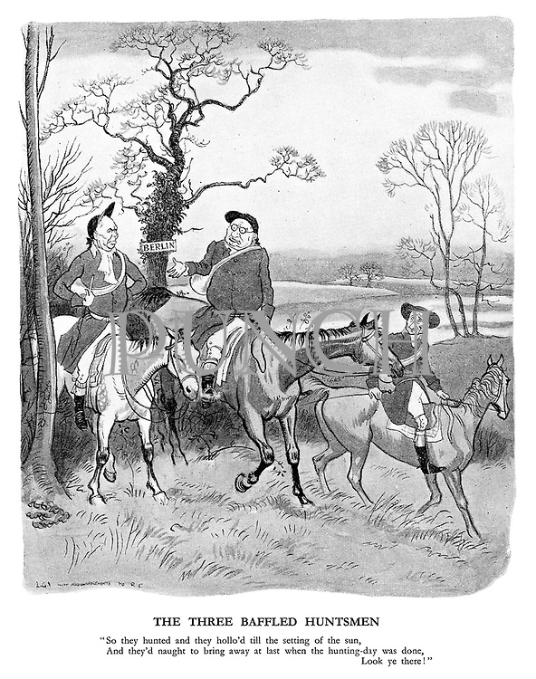"""The Three Baffled Huntsmen. """"So they hunted and they hollo'd till the setting of the sun, and they'd naught to bring away at last when the hunting-day was done, look ye there!"""""""