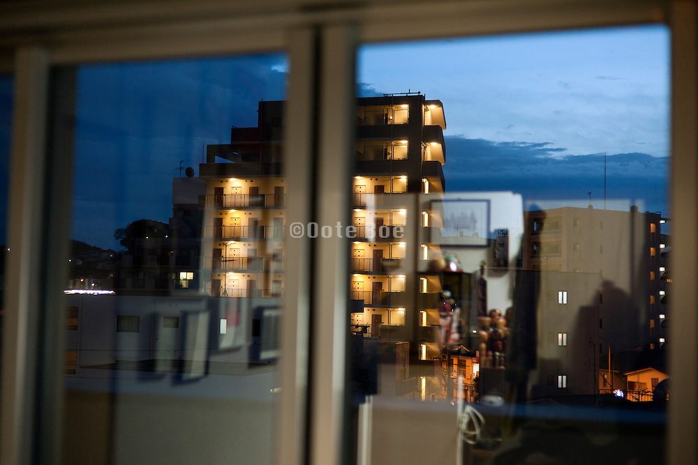 urban residential neighborhood window view Yokosuka Japan