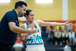 Damir Grgić head coach of Slovenia with Nika BARIČ of Slovenia during basketball match qualifications for European Championship, round 1, between national teams Slovenia and Greece in Arena Celje - Center, 14. November, Ljubljana, Slovenia. Photo by Grega Valancic / Sportida