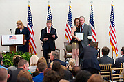 President George W. Bush speaks during a U.S. Citizenship and Immigration Services Naturalization Ceremony at the George W. Bush Institute in Dallas, Texas on July 10, 2013.