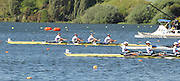 Hamilton, New Zealand, 2010  World Rowing Championships, Lake Karapiro Friday  05/11/2010 GBR W4X, Debbie FLOOD, Beth RODFORD, Frances HOUGHTON, Annabel VERNON, approach the Finish Line, to become World Champions[Mandatory Credit Karon Phillips/Intersport Images]