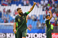 Mile JEDINAK (AUS) ,thumb up,winkt,Gestik, nach Spielende, Aktion,Einzelbild,angeschnittenes Einzelmotiv,Halbfigur,halbe Figur. Daenemark (DEN) - Australien (AUS) 1-1, Vorrunde, Gruppe C, Spiel 22, am 21.06.2018 in Samara,Samara Arena. Fussball Weltmeisterschaft 2018 in Russland vom 14.06. - 15.07.2018. *** Mile JEDINAK AUS thumb up beckons Gestik nach Spielende Action single image trimmed single motive half figure half figure Denmark AUS Australia AUS 1 1 Preliminary Group C match 22 on 21 06 2018 in Samara Samara Arena World Cup 2018 in Russia vom 14 06 15 07 2018