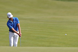 June 21, 2018 - Cromwell, Connecticut, United States - CROMWELL, CT-JUNE 21: Dominic Bozzelli chips on to the 15th green during the first round of the Travelers Championship on June 21, 2018 at TPC River Highlands in Cromwell, Connecticut. (Credit Image: © Debby Wong via ZUMA Wire)