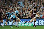 June 15th 2011: Greg Inglis of the Maroons finds space during game 2 of the 2011 State of Origin series at ANZ Stadium in Sydney, NSW, Australia on June 15, 2011. Photo by Matt Roberts/mattrIMAGES.com.au / QRL