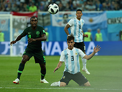 June 26, 2018 - St. Petersburg, Russia - June 26, 2018, Russia, St. Petersburg, FIFA World Cup 2018, First round, Group D, Third round. Football match of Nigeria - Argentina at the stadium of St. Petersburg. Player of the national team Nicholas Talyafico (Credit Image: © Russian Look via ZUMA Wire)