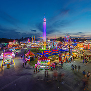 The State Fair of West Virginia at the State Fairgrounds in Fairlea, W.V. is seen on the evening of opening day Thursday, August 09, 2018.
