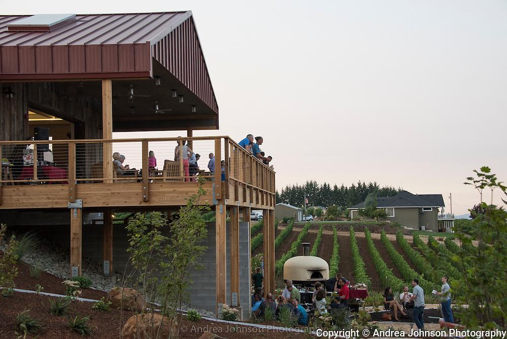 Brooks new winery industry party, Eola Hills, Amity, Oregon