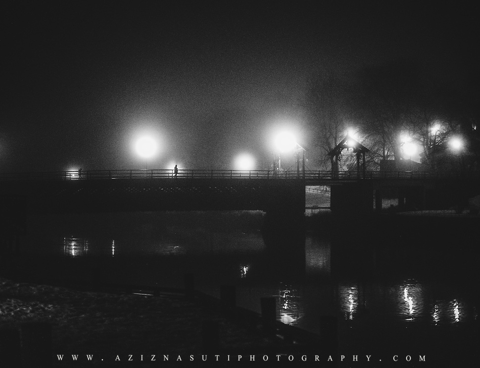 www.aziznasutiphotography.com                             This picture has been taken in a very beautiful foggy night over Trondheim. I love the mood and mysterios feeling of the photo.