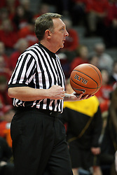 17 February 2013:  Referee David Hall during an NCAA Missouri Valley Conference mens basketball game where the Shockers of Wichita State played the Illinois State Redbirds  in Redbird Arena, Normal IL