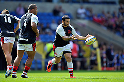 Piri Weepu (London Welsh) passes the ball during the pre-match warm-up - Photo mandatory by-line: Patrick Khachfe/JMP - Mobile: 07966 386802 06/09/2014 - SPORT - RUGBY UNION - Oxford - Kassam Stadium - London Welsh v Exeter Chiefs - Aviva Premiership