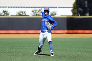 WINSTON-SALEM, NC - MARCH 04: UMass Lowell's Brian Dolan. The Wake Forest University Demon Deacons hosted the UMass Lowell River Hawks on March 4, 2018, at David F. Couch Ballpark in Winston-Salem, NC in a Division I College Baseball game. Wake Forest won the game 14-7.