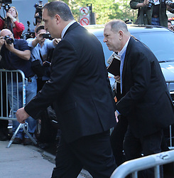 Gaggle of Press/Media show up for an early morning surrender of Harvey Weinstein. 25 May 2018 Pictured: Harvey Weinstein perp walk. Photo credit: KAT / MEGA TheMegaAgency.com +1 888 505 6342