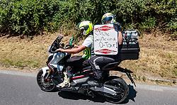 05.07.2017, Altheim, AUT, Ö-Tour, Österreich Radrundfahrt 2017, 3. Etappe von Wieselburg nach Altheim (226,2km), im Bild Motrorad Feature, Tour Info // Motrorad Feature, Tour Info during the 3rd stage from Wieselburg to Altheim (199,6km) of 2017 Tour of Austria. Altheim, Austria on 2017/07/05. EXPA Pictures © 2017, PhotoCredit: EXPA/ JFK