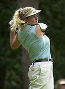 Sat 4th August 2001.. England's - Johanna Head at the 2nd tee.2001 Weetabix Women's Open, Sunningdale,..[Mandatory Credit Peter Spurrier/ Intersport Images]
