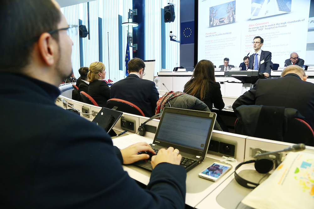 20150226 - Brussels - Belgium - 26 February 2015 -  Heating and cooling in the European energy  transition conference - Boosting new finance for energy efficiency investments - Pierre De Montlivault , Dalkia ( EDF )  - Patrick Mascart