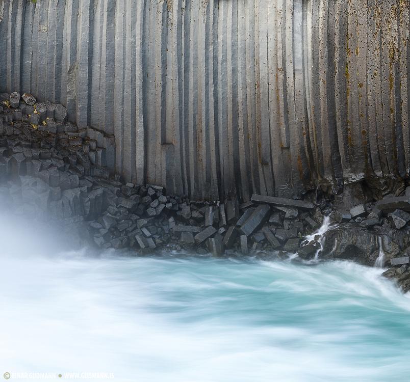 Aldeyjarfoss is in the highlands of northeast Iceland.